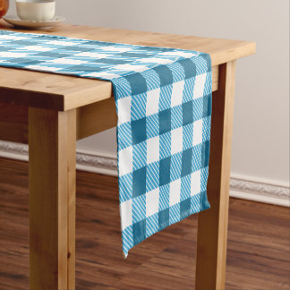 Blue Plaid Custom Table Runner