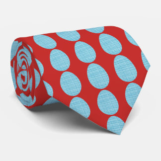Blue Plaid Easter Eggs Tie