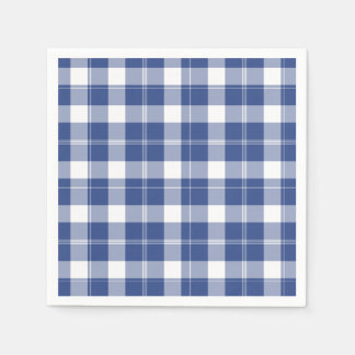 Blue Plaid For Hanukkah Holiday Paper Napkins