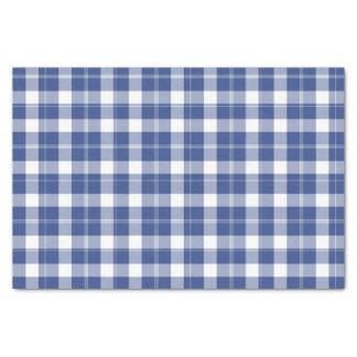 Blue Plaid For Hanukkah Holiday Tissue Paper