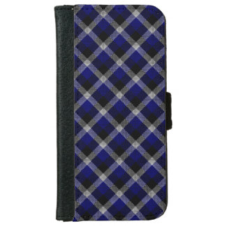 Blue Plaid iPhone 6 Wallet Case