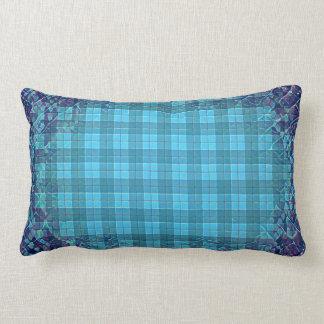 Blue Plaid Lumbar Pillow