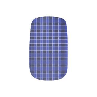 Blue Plaid Nail Art