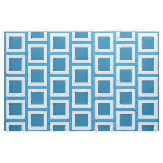 Blue Plaid Patchwork Fabric