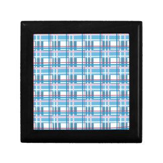 Blue plaid pattern gift box
