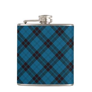Blue Plaid Pattern Hip Flask