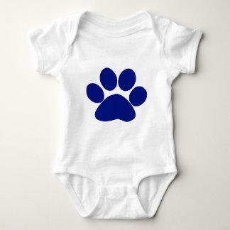Blue Plaid Paw Print Baby Bodysuit