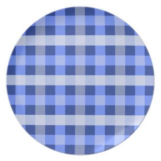 Blue Plaid Plate