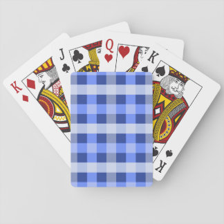Blue Plaid Playing Cards