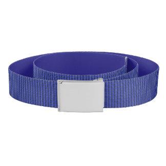 Blue Plaid Print Belt