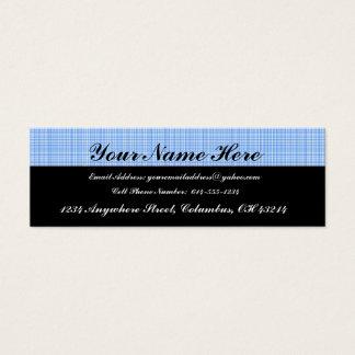 Blue Plaid Profile Cards