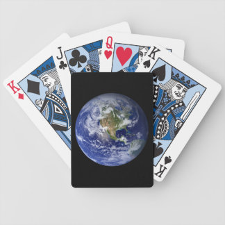 Blue Planet Earth Bicycle Playing Cards