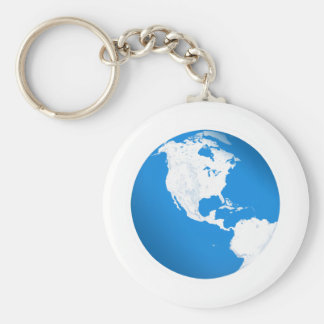 Blue Planet Earth Keychain