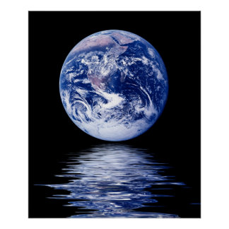 Blue Planet of Water Poster