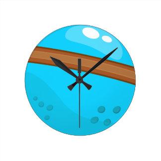 Blue Planet Round Clock