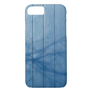 Blue plank wall iPhone 7 case