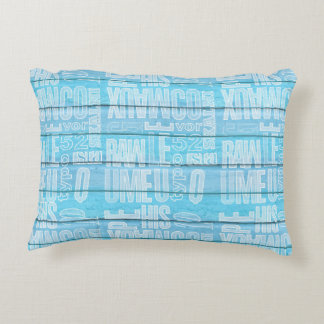 Blue Planks Decorative Pillow