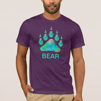 Blue Plasma Bear Pride Paw Gay Bear T-Shirt
