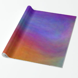 Blue Plasma Clouds Wrapping Paper