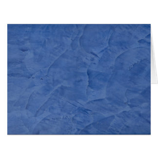 Blue Plaster Big Blank Greeting Card
