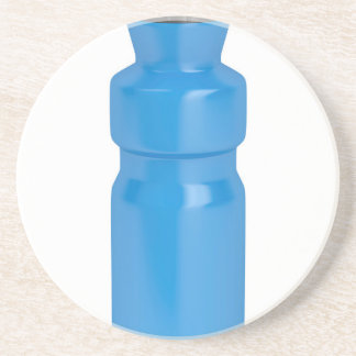 Blue plastic bottle coaster
