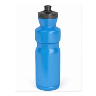 Blue plastic bottle postcard
