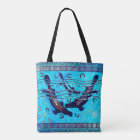 Blue Platypus Aboriginal Tote Bag