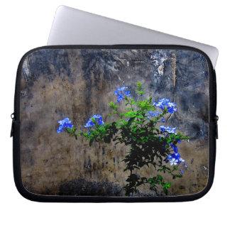 Blue Plumbago Flower Laptop Sleeve