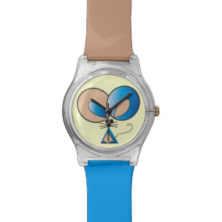 Blue Pocket Mouse graphic illustration Watch