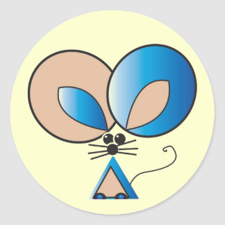 Blue Pocket Mouse Round Sticker