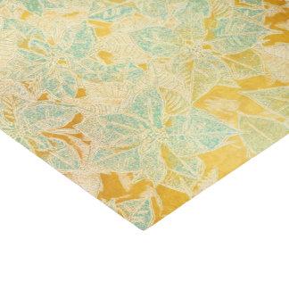 Blue Poinsettia on Gold - Tissue Paper