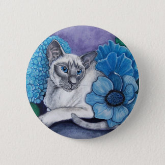 Blue Point Siamese cat 2 Inch Round Button