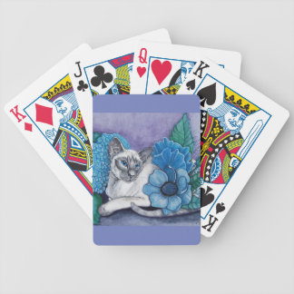 Blue Point Siamese cat Bicycle Playing Cards