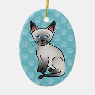 Blue Point Siamese Cat Ceramic Ornament