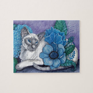 Blue Point Siamese Cat Jigsaw Puzzle