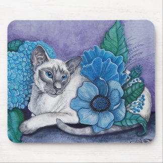 Blue Point Siamese cat Mouse Pad