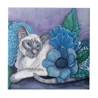 Blue Point Siamese Cat Tile