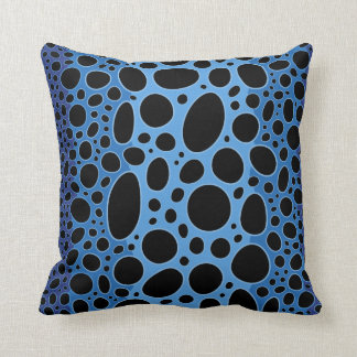 Blue Poison Dart Frog Print Throw Pillow