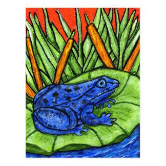Blue Poison Frog Postcard
