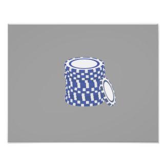 Blue poker chips photo