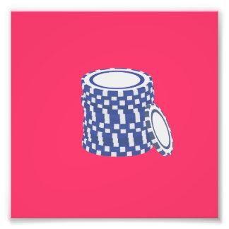 Blue poker chips photograph