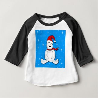 Blue polar bear baby T-Shirt