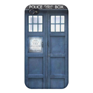 Blue Police Box Case For The iPhone 4