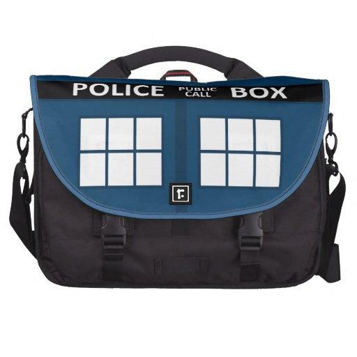 Blue Police Box Commuter Bag