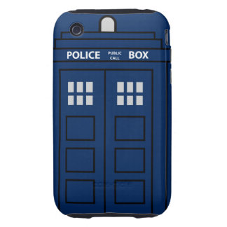 Blue Police Call Box Tough iPhone 3 Cover
