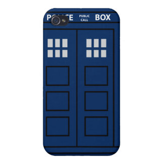 Blue Police Call Box iPhone 4 Cover