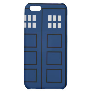 Blue Police Call Box Case For iPhone 5C