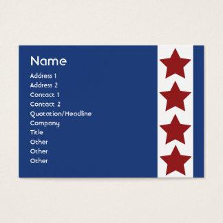 Blue Political - Chubby Business Card