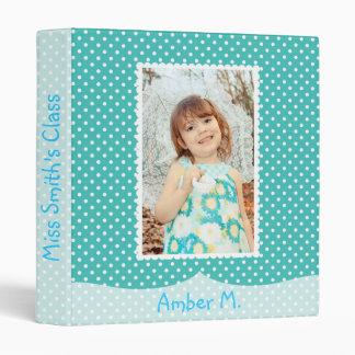 Blue Polka Dot Baby Album 3 Ring Binders