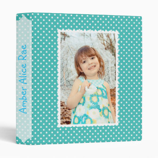 Blue Polka Dot Baby Album 3 Ring Binders
